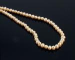 Collar de perlas semi esféricas rosas