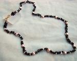 Collar Granate, Perla patata malva y original cierre de Plata chapada