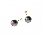 Perlas Tahití esféricas 7,5-8mm. Pendientes en oro amarillo 18 ktes