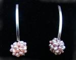 Pendientes de plata con Perlas cultivadas Malvas