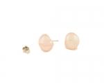 Pendientes de perla AAA barroca rosa y Plata 925ml.