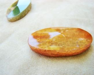Piezas Cuarzo craquelado Naranja