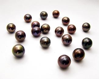 Perla esférica 15mm. Gris
