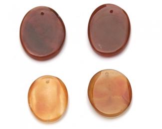 Piezas de ágata oval