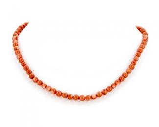 Collar de coral Bambú en bolita 3-3,5mm.