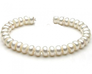 Collar de perla center blanca