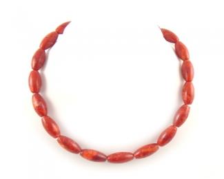 Collar de coral esponja en tubo ovalado