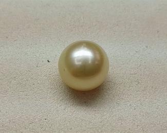 Perla Australiana esférica 12,50mm. Golden