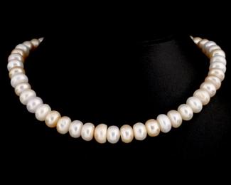 Collar de perlas center multicolor