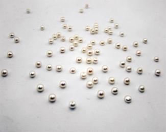 Perla botón 4.5-5mm. Blanca