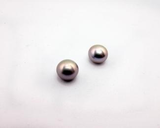 Perla botón 8mm. Gris