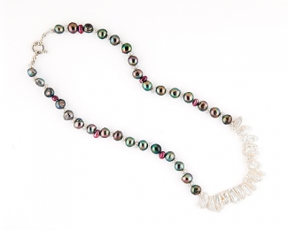 Collar de Perlas y Plata 925ml.