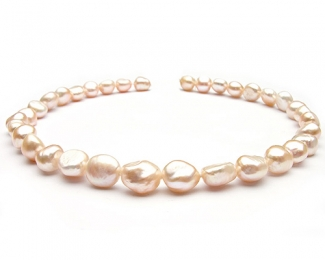 Collar de perlas barrocas rosas