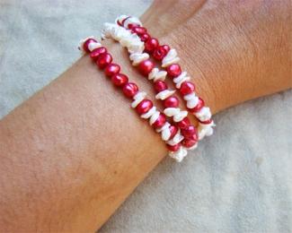 Pulsera de perlas cultivadas y plata
