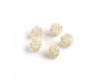 Bolitas de mil perlas pequeñitas 12mm. Blancas