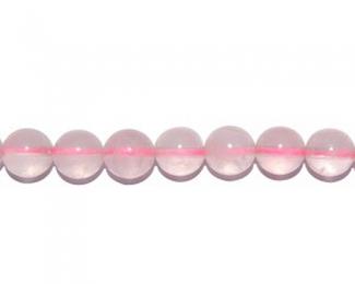 Collar de cuarzo rosa en bolitas de  2mm.