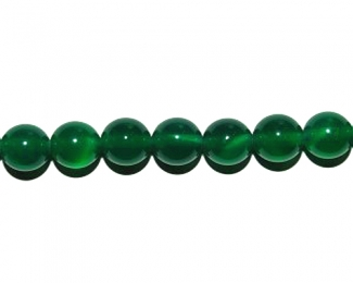 Collar de ágata verde en bolita