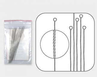 Agujas trenzadas de Enfilado flexible fina (0,23mm.)