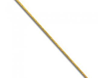 Cordón de Algodón encerado amarillo (0,5mm.)