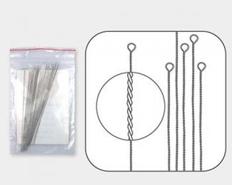 Agujas trenzadas de Enfilado flexible media (0,35mm)