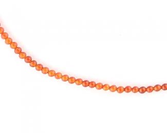 Collar de ágata cornalina