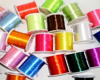 Hilo elástico de Silicona (0,6mm.) Colores