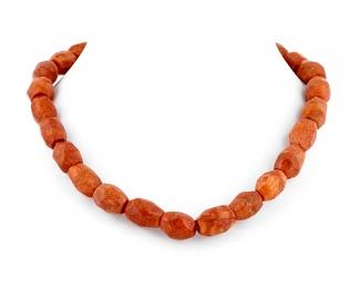 Collar de coral Esponja tubo oval