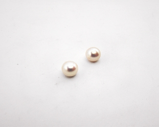 Perla botón 6.5mm. Blanca