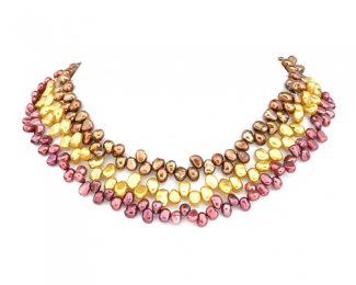 Collar de perlas patatita zig-zag